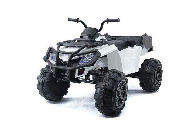 Электроквадроцикл Grizzly Next Т009МР 4WD красный (АКБ 12v 10ah, колеса резина, сиденье кожа, пульт, музыка)