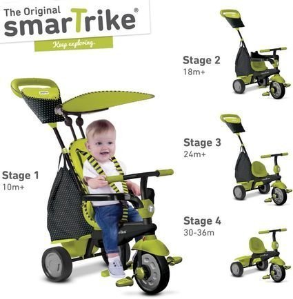 Велосипед Smart Trike 4в1 Glow Green (от 10 месяцев до 3х лет)